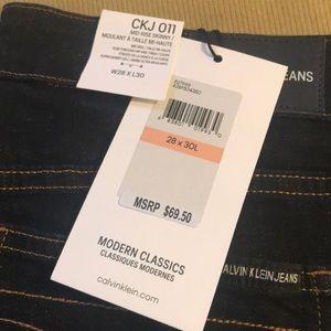 NWT Calvin Klein Dark wash Jeans
